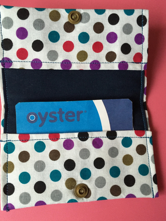 Polka Dots Oyster Card Credit Card Holder