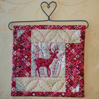 'Deer in the Garden' Mini Wall Quilt