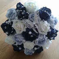 WEDDING FLOWERS BRIDES POSY BOUQUET BRIDESMAID FLOWERS ARTIFICIAL WEDDING POSY