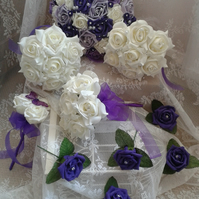 BRIDAL FLOWER COLLECTION ARTIFICIAL WEDDING POSY BOUQUET