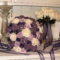 WEDDING FLOWER COLLECTION IN IVORY, PURPLE & LILAC