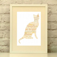 Cat Personalised Print