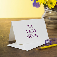 Ta Very Much Thank You Card