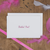 'Tickled Pink!' Congratulations Card
