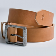 "1.9"" Handmade Vegetable Tanned 10oz Leather Belt - Desert 10oz Leather Belt"