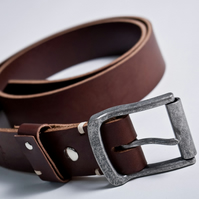 "1.9"" Handmade Vegetable Tanned 10oz Leather Belt - Trench 10oz Leather Belt"