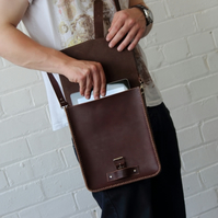Handmade Vegetable Tanned Leather Mini Satchel - Trench Mini Satchel