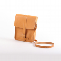 Handmade Vegetable Tanned Leather Mini Satchel - Desert Mini Satchel