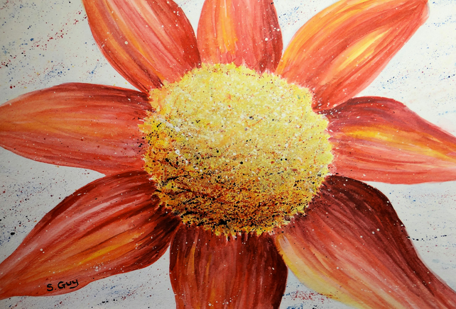 Flower Original Painting A4