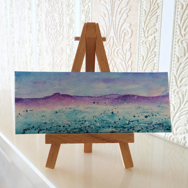 RESERVED FOR HAZEL BRANT Seascape Ocean Panoramic Miniature Mini Folksy
