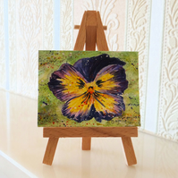 Pansy summer flowers dolls house wall art