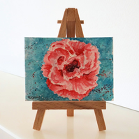 Flower Carnation Painting ORIGINAL ACEO Miniature