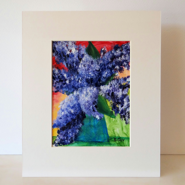 Lilacs Flowers Acrylic Painting
