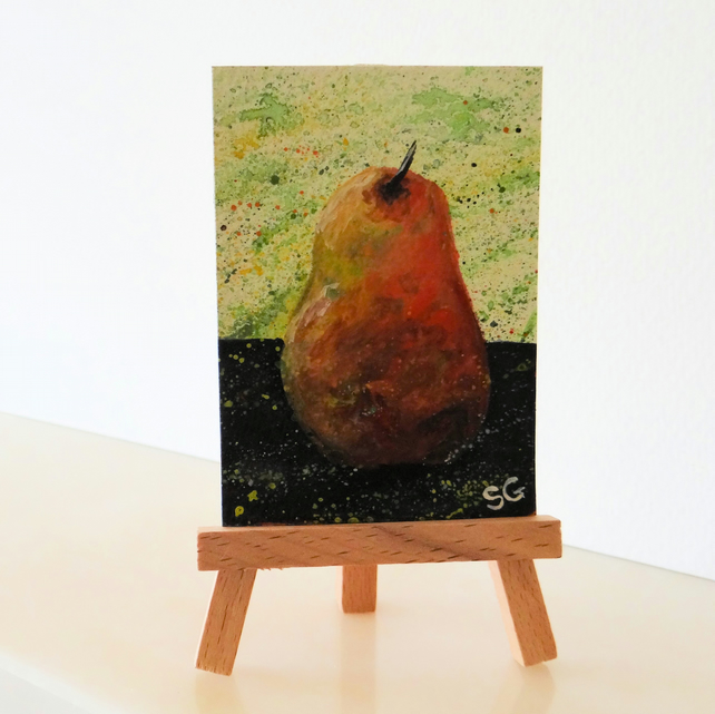 Pear Fruit Painting ACEO