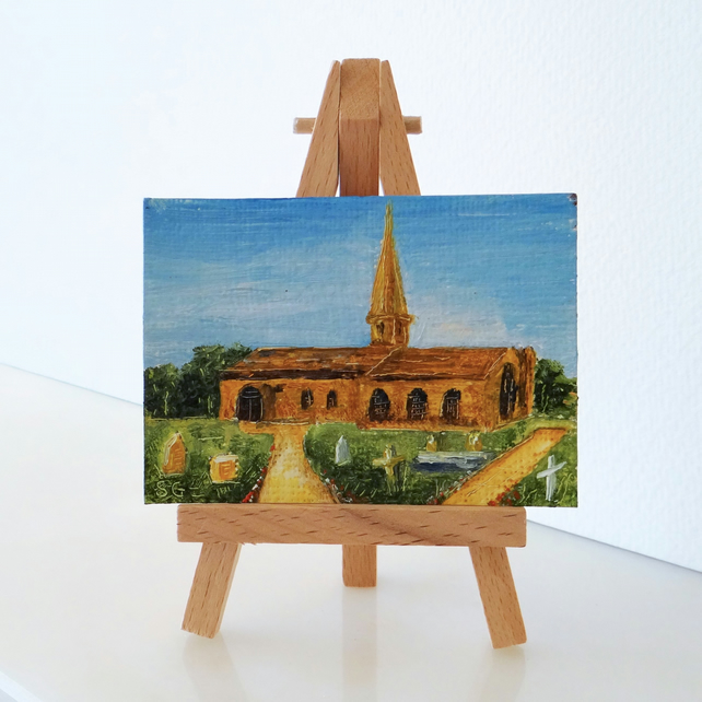 Church ACEO St Michaels, Aughton Ormskirk Lancashire
