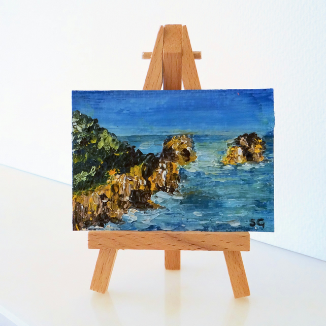 ACEO Sea Ocean Oil Painting ORIGINAL