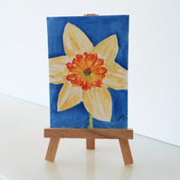 Daffodil Flowers Painting Miniature ACEO