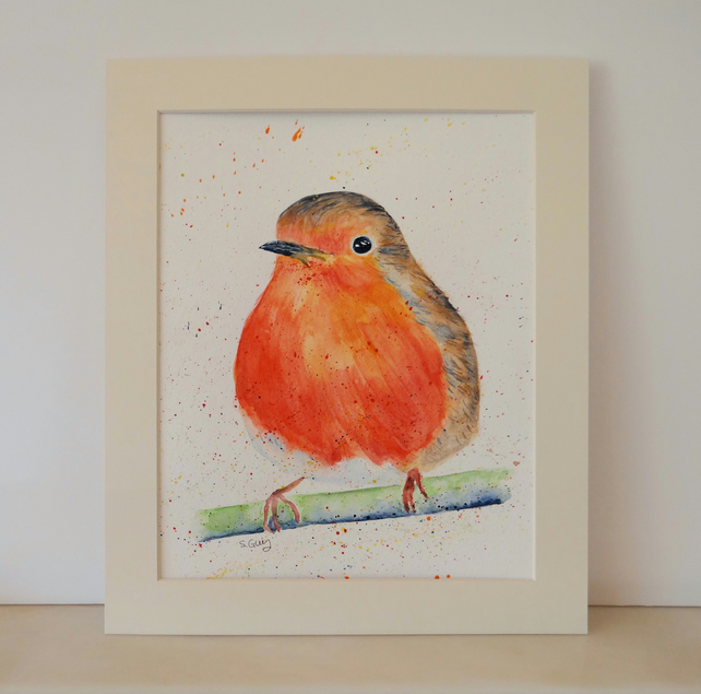 Robin painting