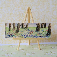 Bluebells Miniature Dollhouse Painting