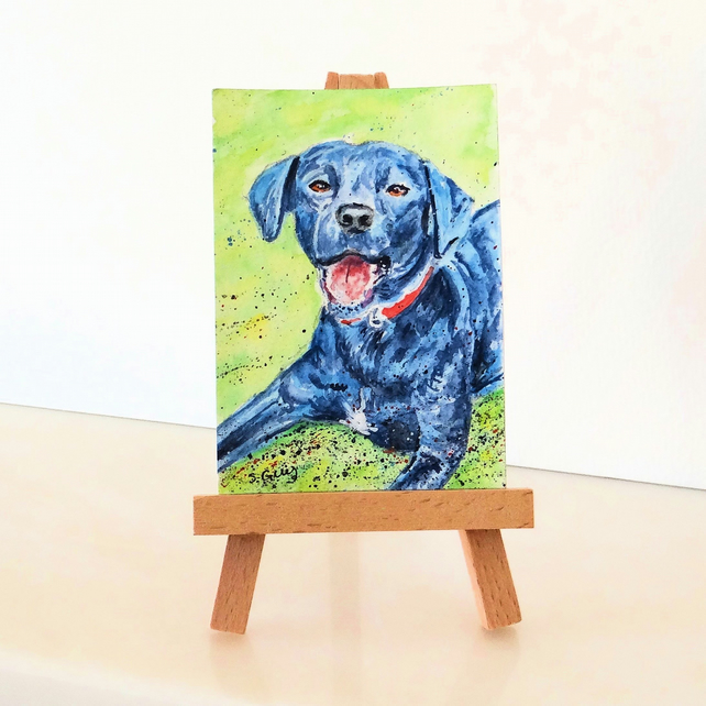 ACEO and Dolls House Pet Portraits 1:12 1:16 scale
