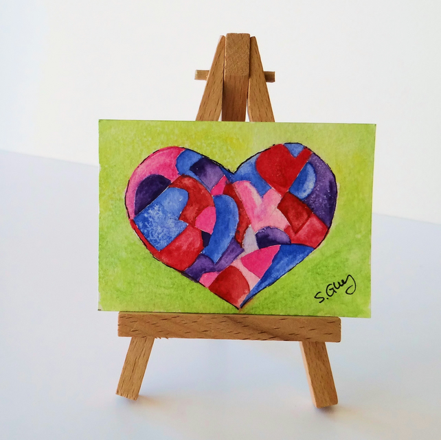 Valentine Art Card Heart ACEO