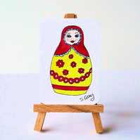 Russian Doll ACEO