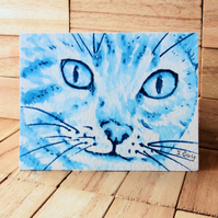 Cat Painting ACEO