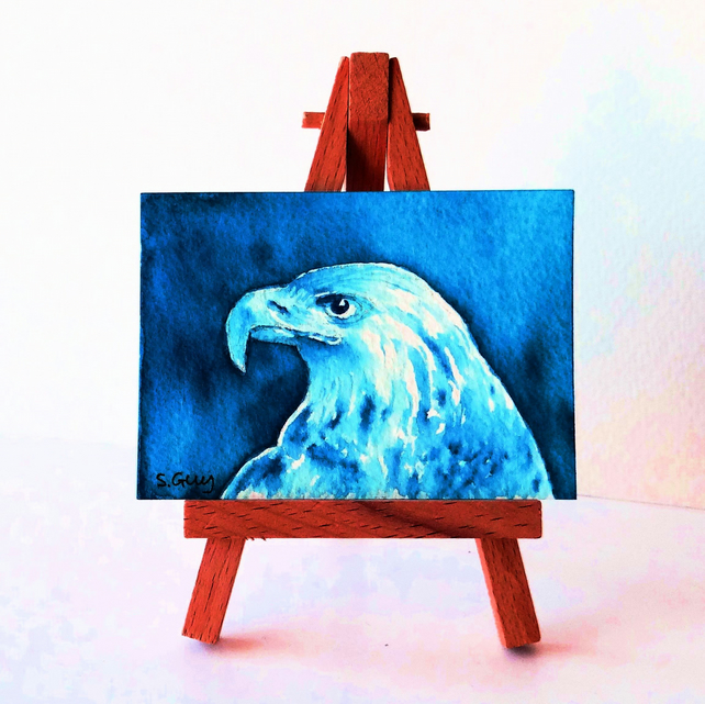 Golden Eagle Painting ACEO