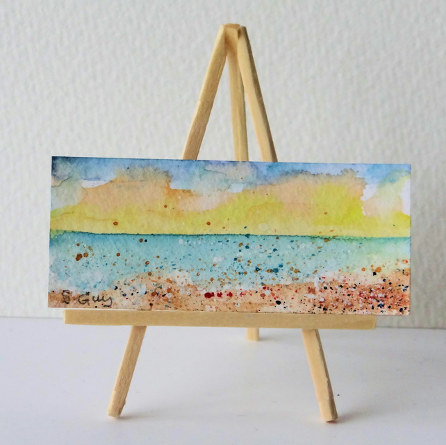 Small Paintings Beach ORIGINAL Painting Dolls House