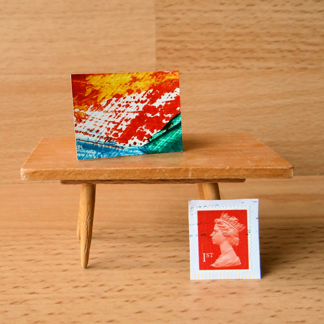 Abstract Painting for a Dollhouse