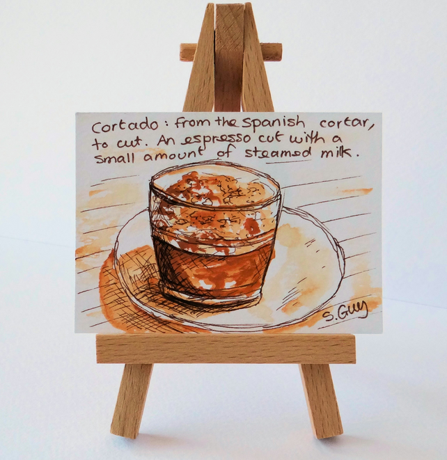 Coffee Miniature Painting