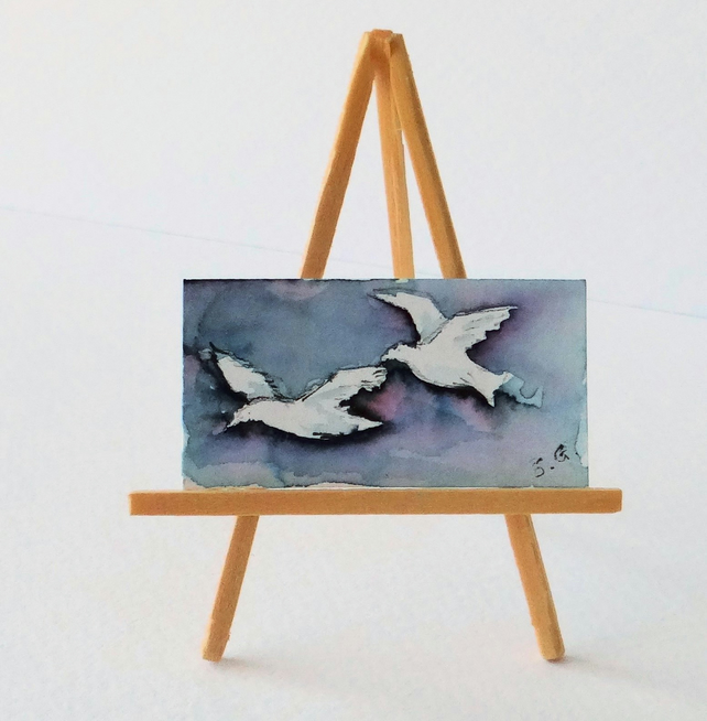 Seagulls Miniature Painting