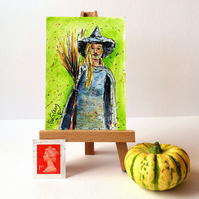 Halloween Witch ORIGINAL ACEO