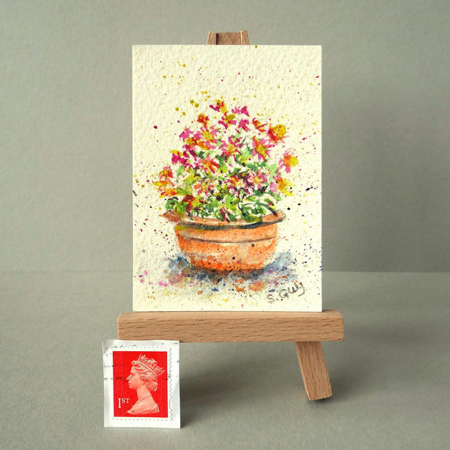 Patio flower pot ORIGINAL ACEO