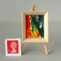 Framed original abstract painting for a Dolls House