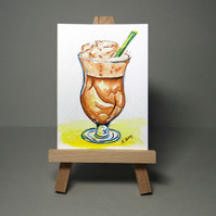 Iced coffee Miniature Painting