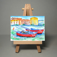 Boats Miniature Painting