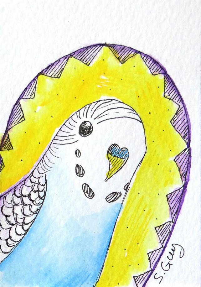 Budgie bird Painting Miniature