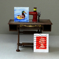 Duck Inchie Painting Original
