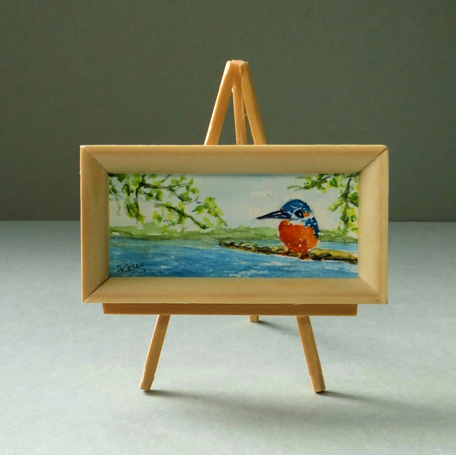 Kingfisher Dolls House Painting