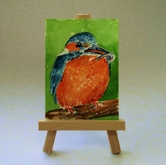 Kingfisher ACEO