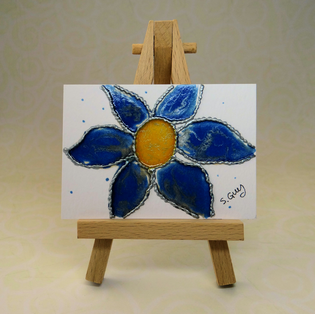 Blue Flower Painting