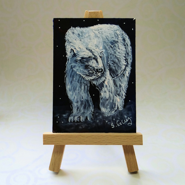 White Bear ACEO
