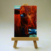 Cow Painting ACEO
