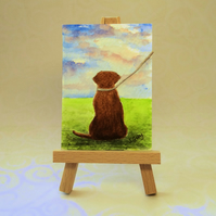 Labrador Painting ACEO