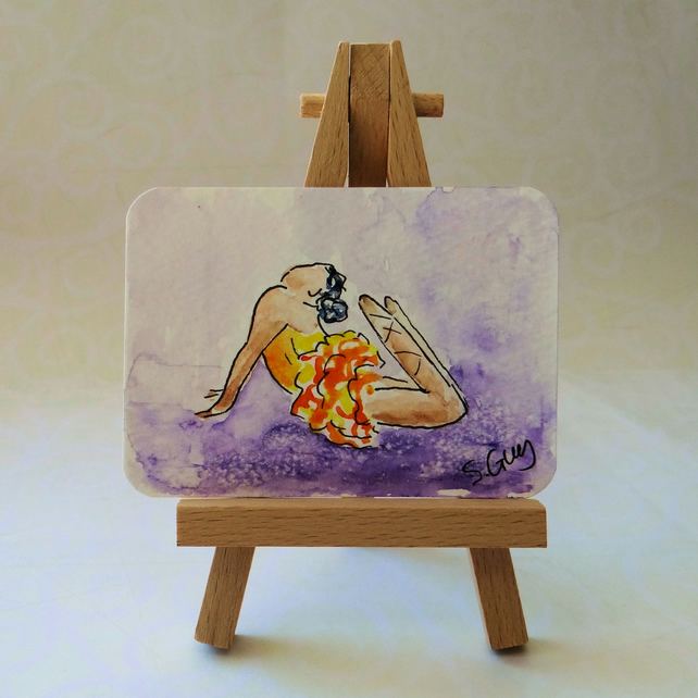 Ballet Dance Painting ACEO