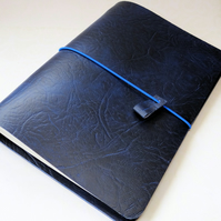 Traveller's Notebook Cover with Blue Elastics