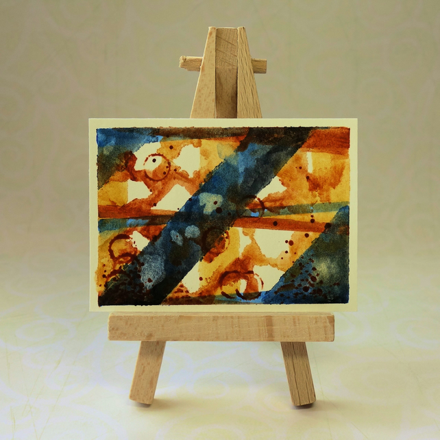 Abstract Painting Watercolour ACEO