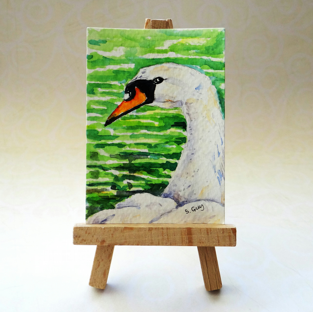 Swan ACEO