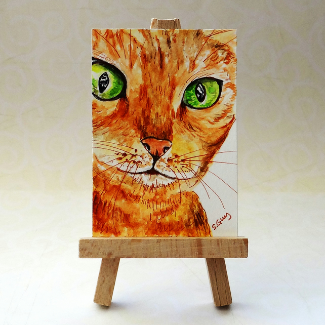 Cat ACEO Reserved for Margaret Jackson